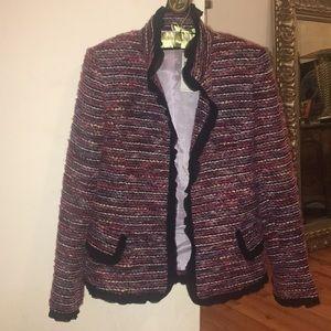 Jackets & Blazers - Dana Buchman multi-colored blazer with black trim